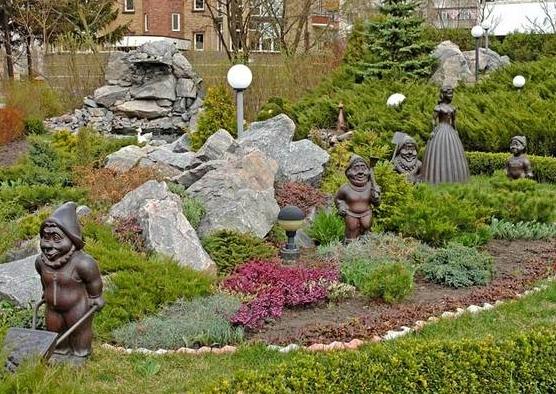 Кременчуг. Сад Альпийская горка
