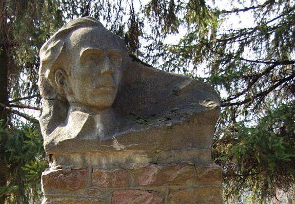 Dikanka. Monument to Nikolay Ostrovsky